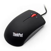 联想鼠标有线 蓝光ThinkPad 小黑大红点鼠标笔记本通用