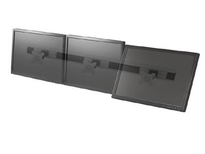 TOPSKYS VC831三屏拼接24寸电脑LED液晶显示器支架多屏幕广告展示挂架