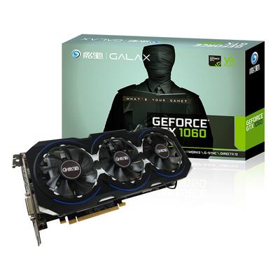 影驰 GeForce GTX 1060骨灰黑将 3G 192B 独立游戏显卡
