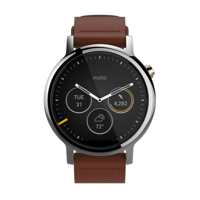 MOTOROLA/摩托罗拉 新一代 360L智能手表 真皮表带