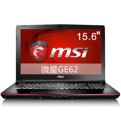 【顺丰包邮】msi微星 GE62 6QC-489XCN15.6英寸游戏本电脑(i7-6700HQ 8G 1T GTX960M 2G独显 白色背光)黑色