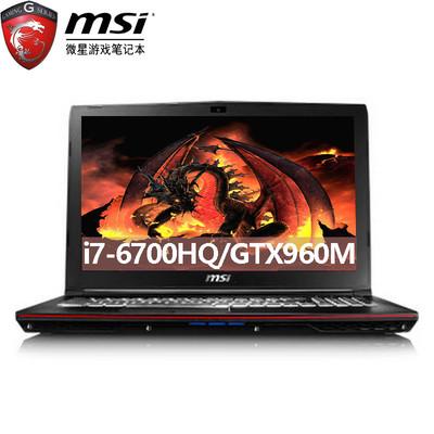 【新品上市  顺丰包邮】msi微星 GP62 6QF-1462CN  酷睿i7-6700H 8G 128G固+1TB GTX960M-2G发烧级独显 IPS广角屏 纵情游戏